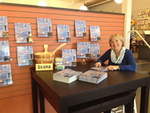 Sheryl Peterson at a book signing for The Best Part of a Sauna