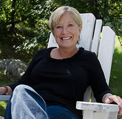 Sheryl Peterson at the cabin